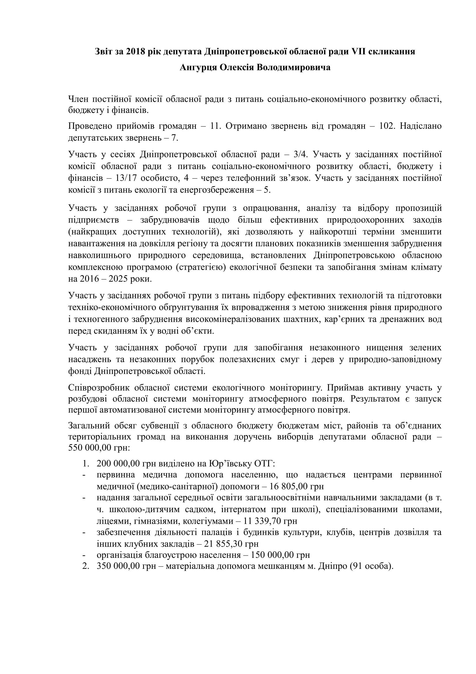 Ангурець - звіт 2018-1